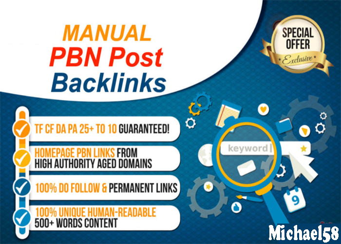 Permanent 1000 High DA/PA Homepage PBNs Post for your website