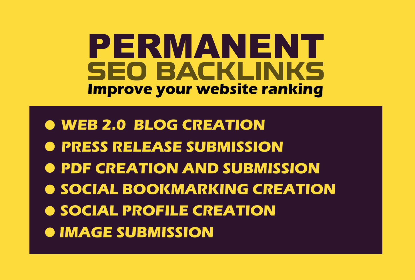 Permanent SEO backlinks with link building for high google ranking
