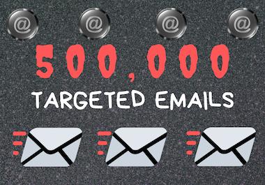 500,000 Keyword Targeted New Emails