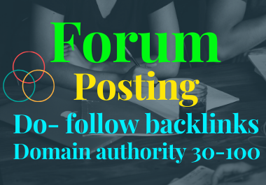 40 High Quality Niche Relevant Forum Posting for You