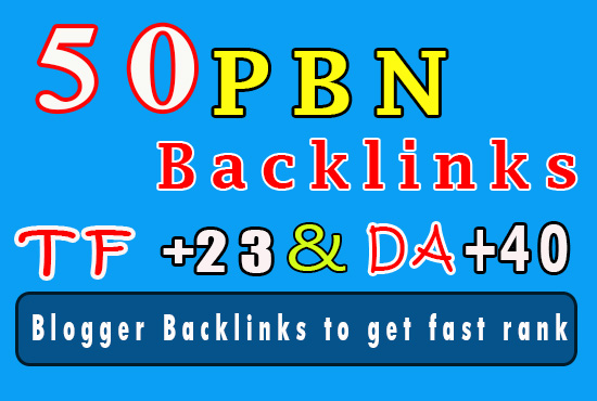 50 Homepage PBN Blog backlinks - TF +23,  FC up to 55 and DA +40 fast ranking help at Google