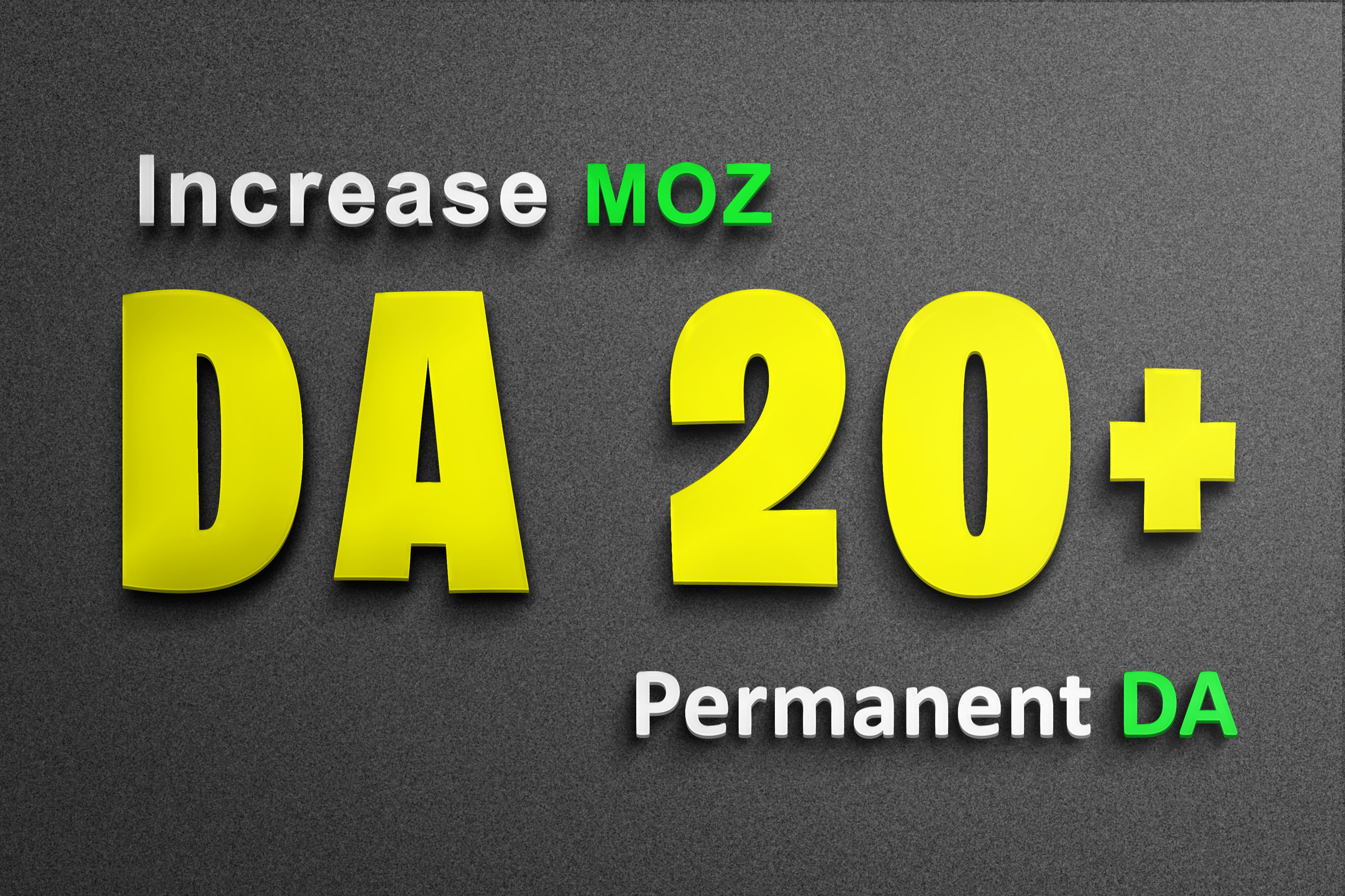 Only for Resellers Increase site MOZ DA from DA0 to DA20+ DA40+ Only in 3 extras Domain Authority