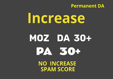 Increase DA Domain Authority MOZ DA30+ & PA30+ in 30 days using Whitehat SEO Backlinks
