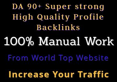DA 92+ White Hat Powerfull Quality Profile Backlinks Best Sell-2020