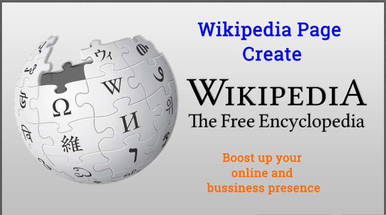 Wikipedia Page, Biography Or Profile For Your Company Or Business