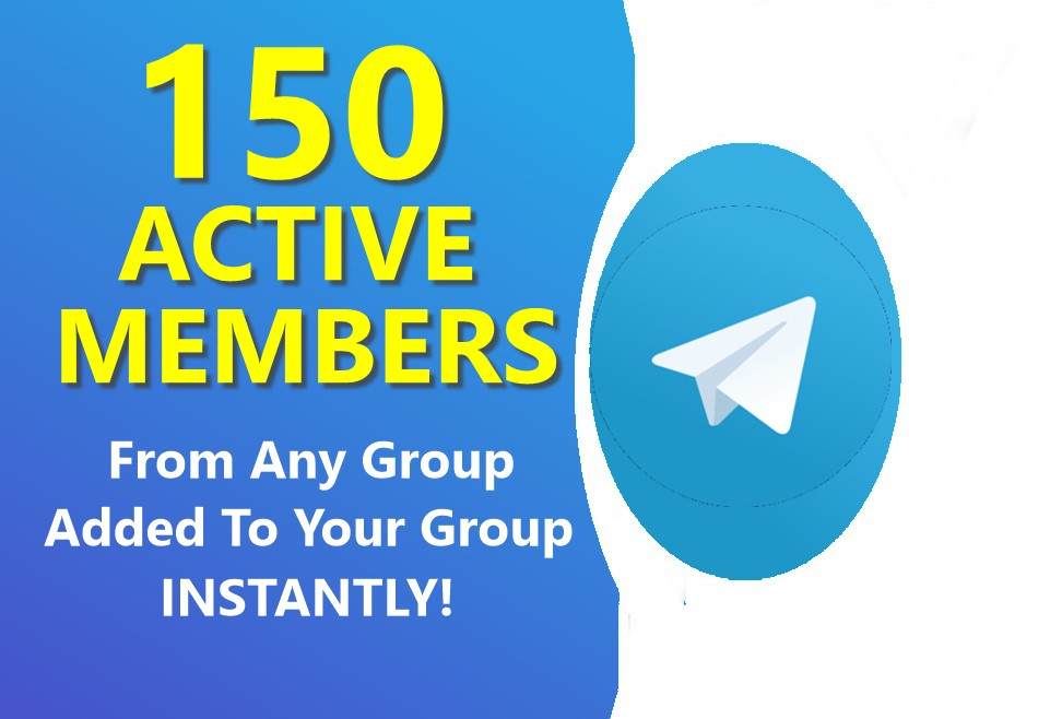 Add 150 ACTIVE Telegram membrs from ANY GR0UP to YOUR GR0UP instantly