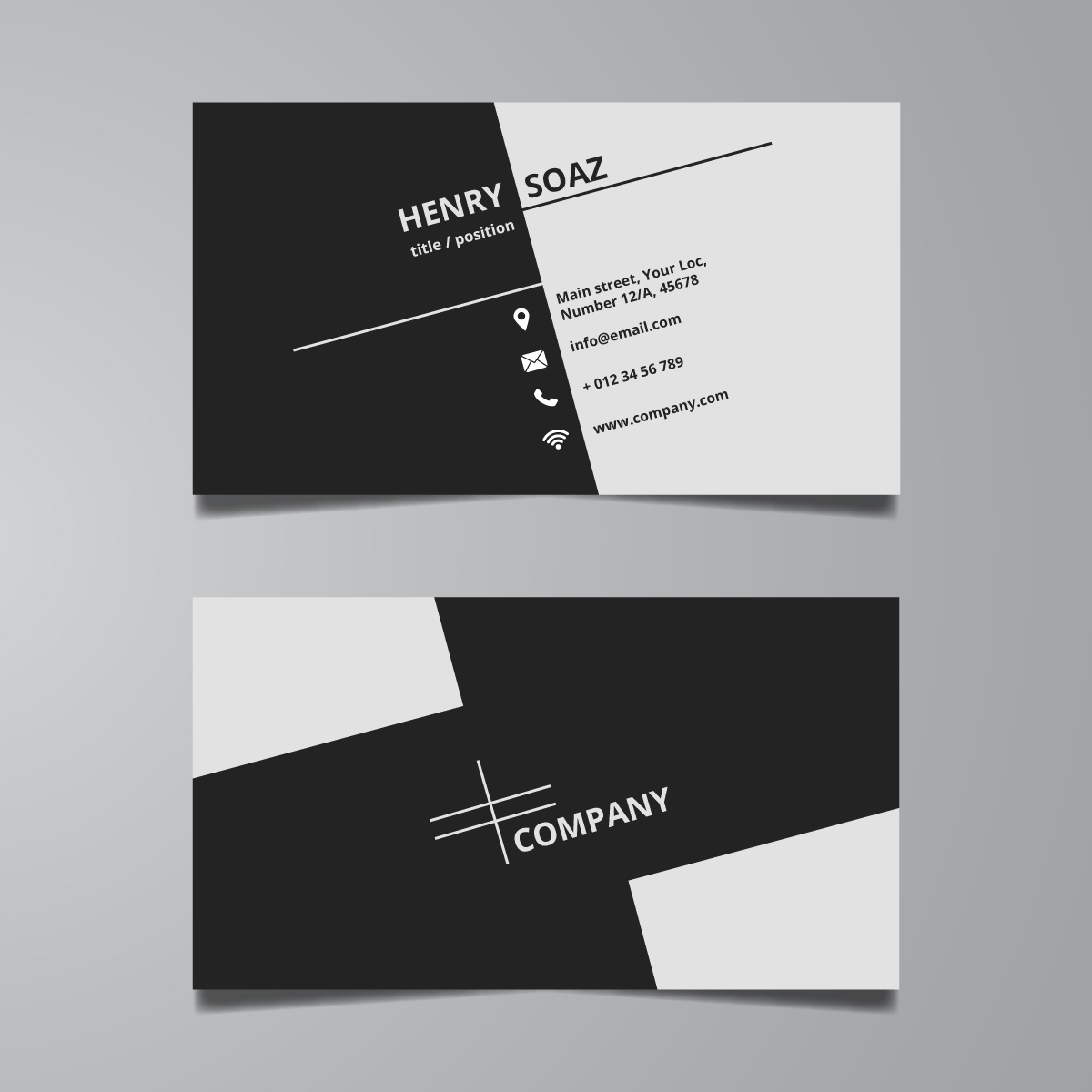 Provide Simple Professional Business Card Design in 24 hour