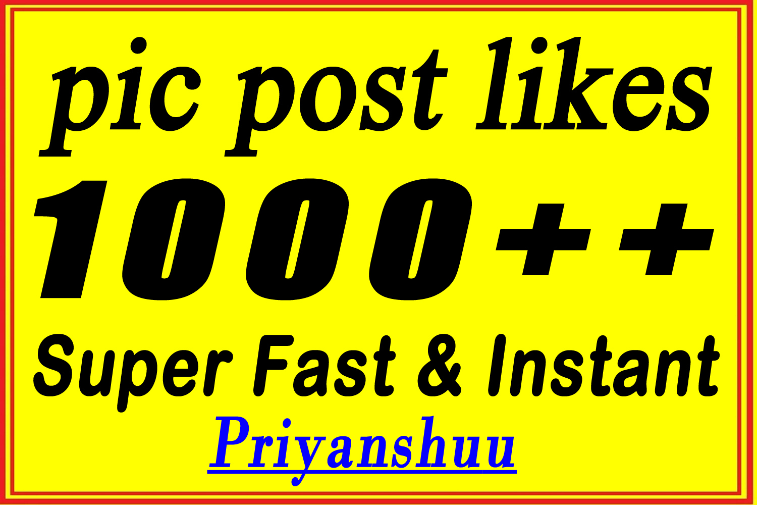 instant 1000 to 1200 picture post promotion marketing in 4 hours