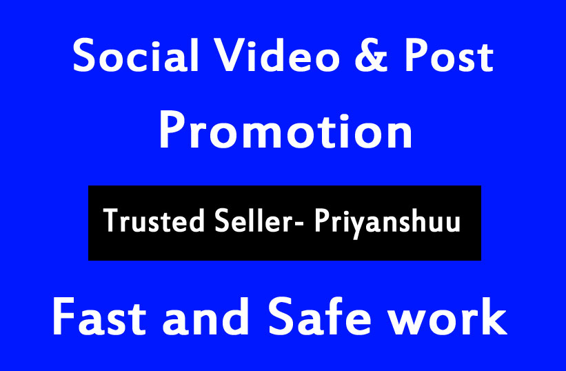 Very Fast Video Views Likes Promotion in 2 Hour