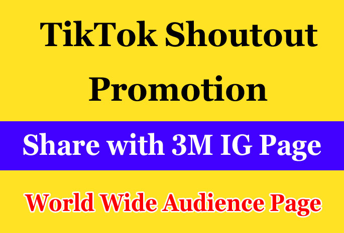 Do TikTok Shoutout Promotion on 3m IG page