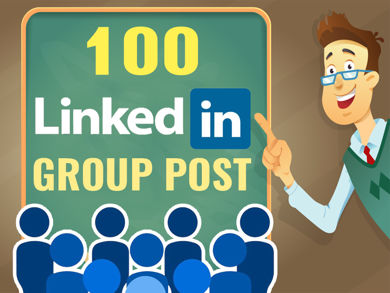 share your link in 100 LinkedIn Group