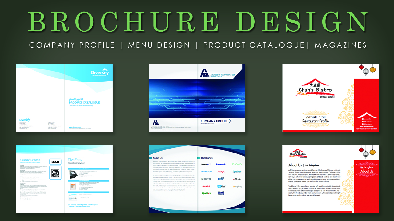 Design an eye catchy and print ready brochure