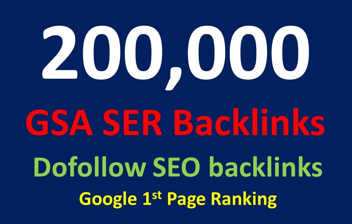 200,000 dofollow SEO GSA SER Powerful backlinks for seo rankings