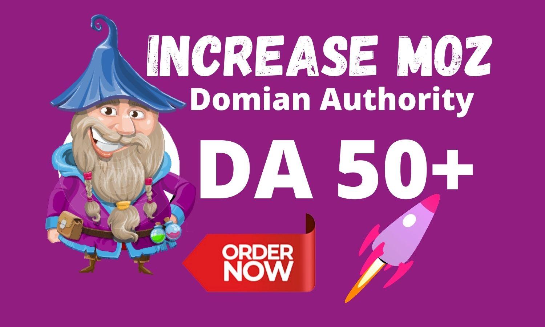 I will increase DA 50 Moz Da Guaranteed in 28 Days Free Spam Score