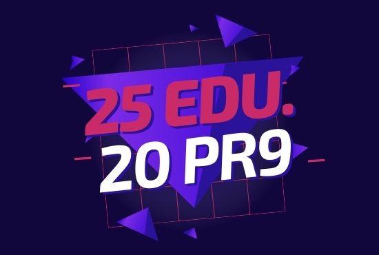 Do High Quality 25 Edu and 20 Pr9 SEO Authority Backlinks Service