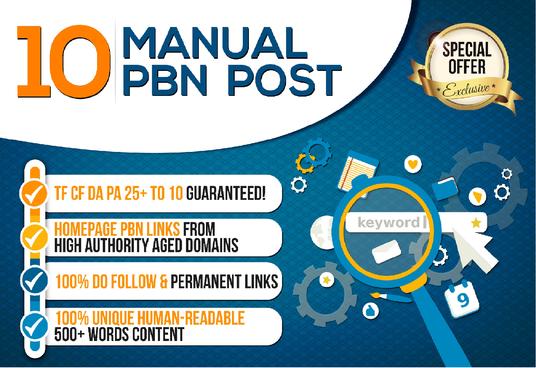 Do 10 Powerful Da Pa 10+ Dofollow PBN Links