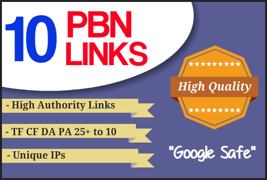 Do 10 PBN post with da 25+ High quality home page PBN