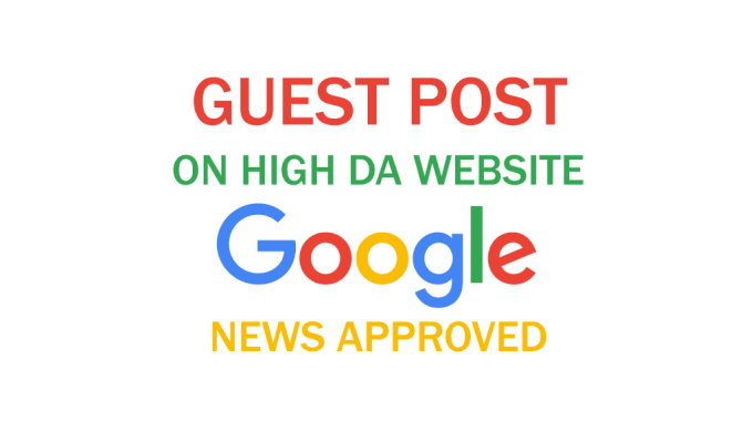 Do guest post my Google news approvad website buy one get one free