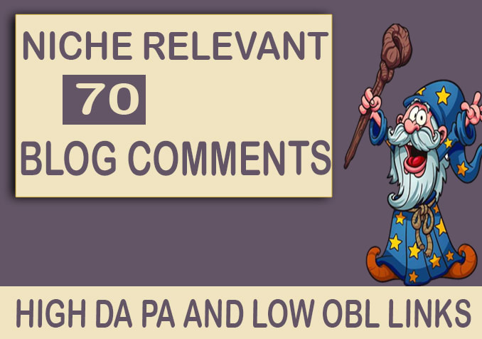 I will make 70 high quality niche relevant blog comments back-links