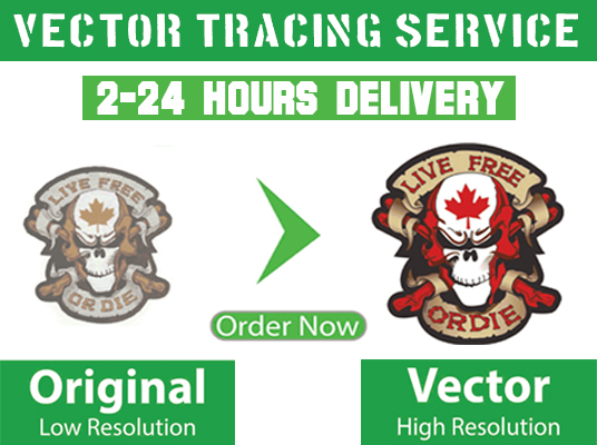 Do Professional Vector Tracing and Convert Logo To Vector In 24 hours