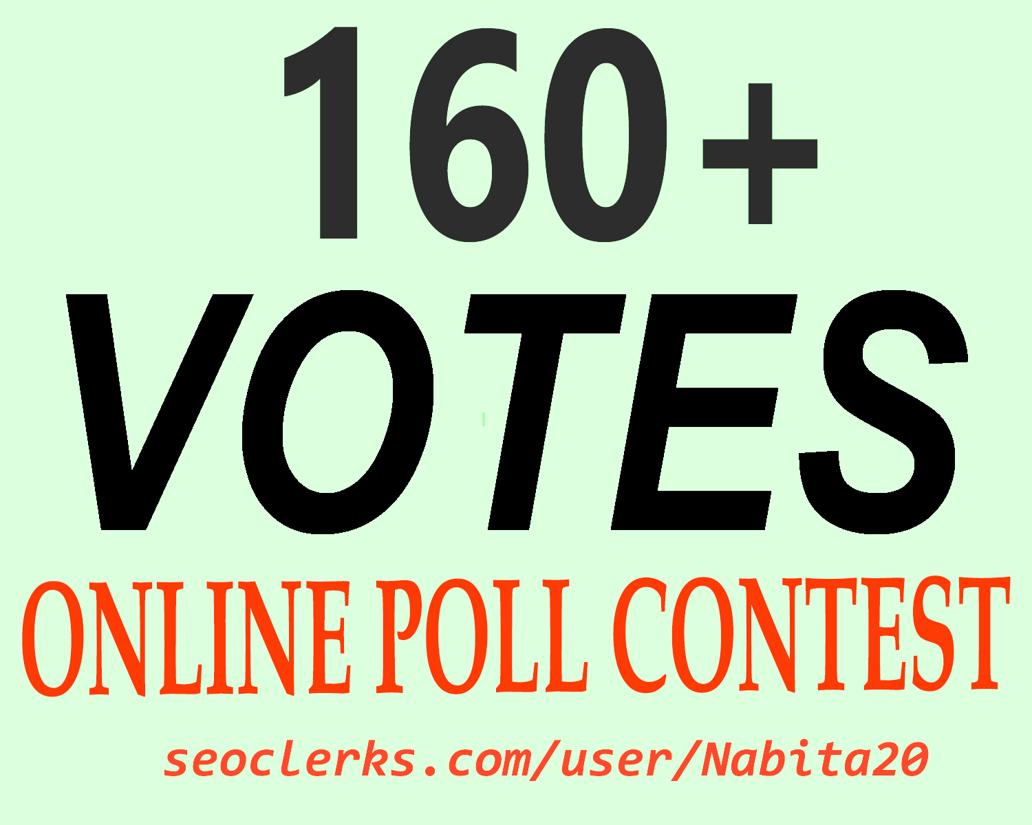 Give You 160+ Online Poll Voting Contest Vote Instant Start
