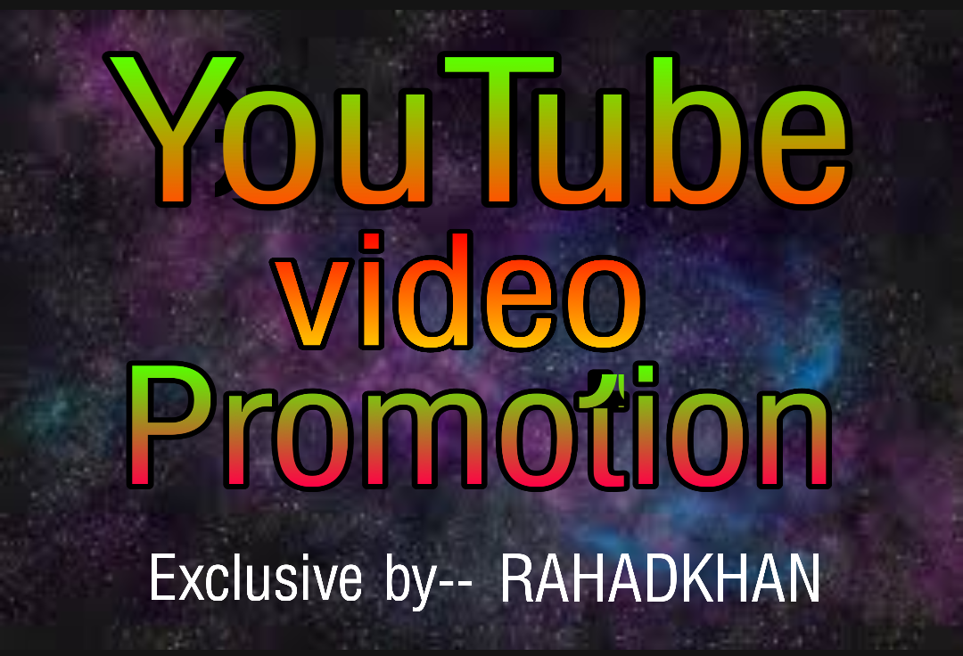Get you video promotion and research on your market place