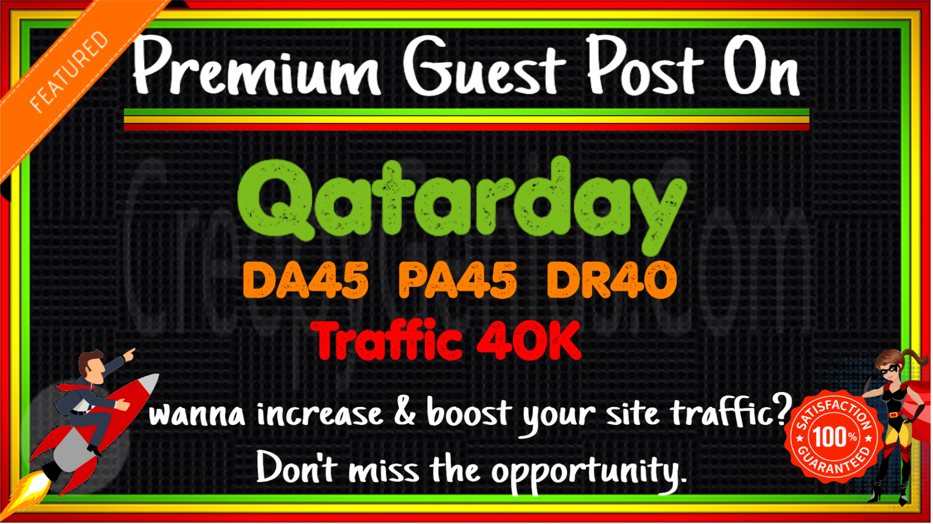 Write & Publish A Guest Post On Qatarday. com DA45 PA45 DR43