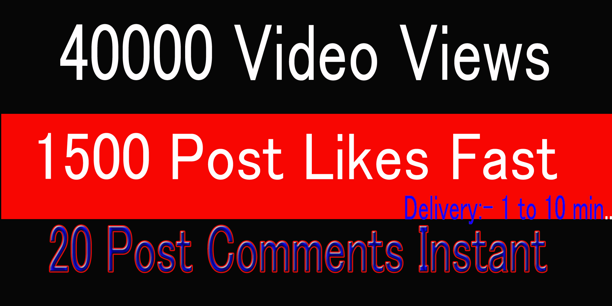 Oranic Fast 4OK Social music Video views or 1500 pic Likes or 20 comments Promotion