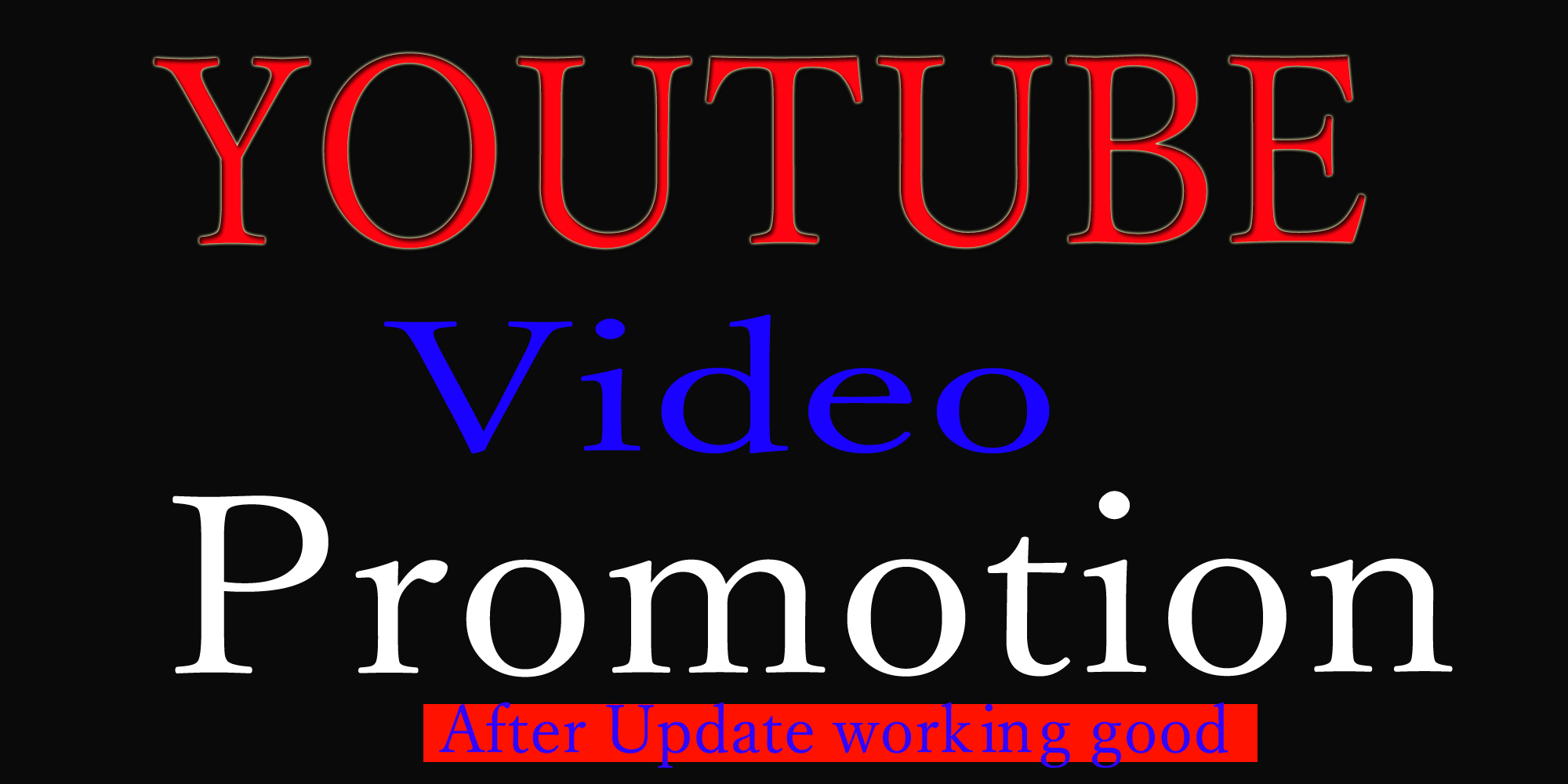 Fast organice Youtube video promotion and music marketing