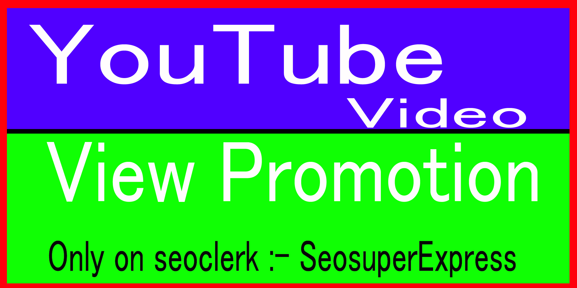 Fast High Quality Youtube video promotion