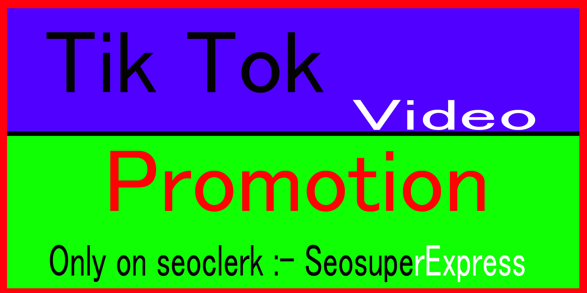 Fast Tik Tok Video and Account Promotion