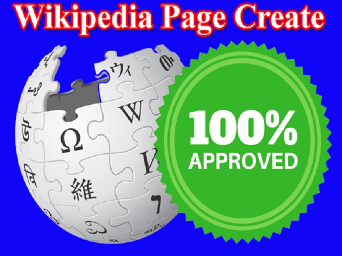 I can do Wikipedia Page Create and Edit