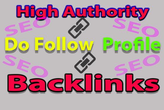 I will provide 10 high authority do follow profile backlinks