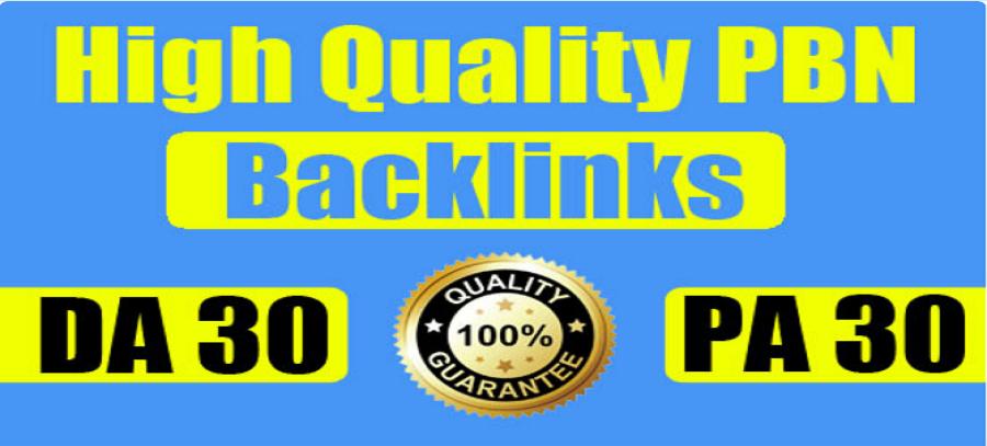 Build 10 premium Quality DA 30+ WEB PBNs Powerful Homepage Dofollow BACKLINKS
