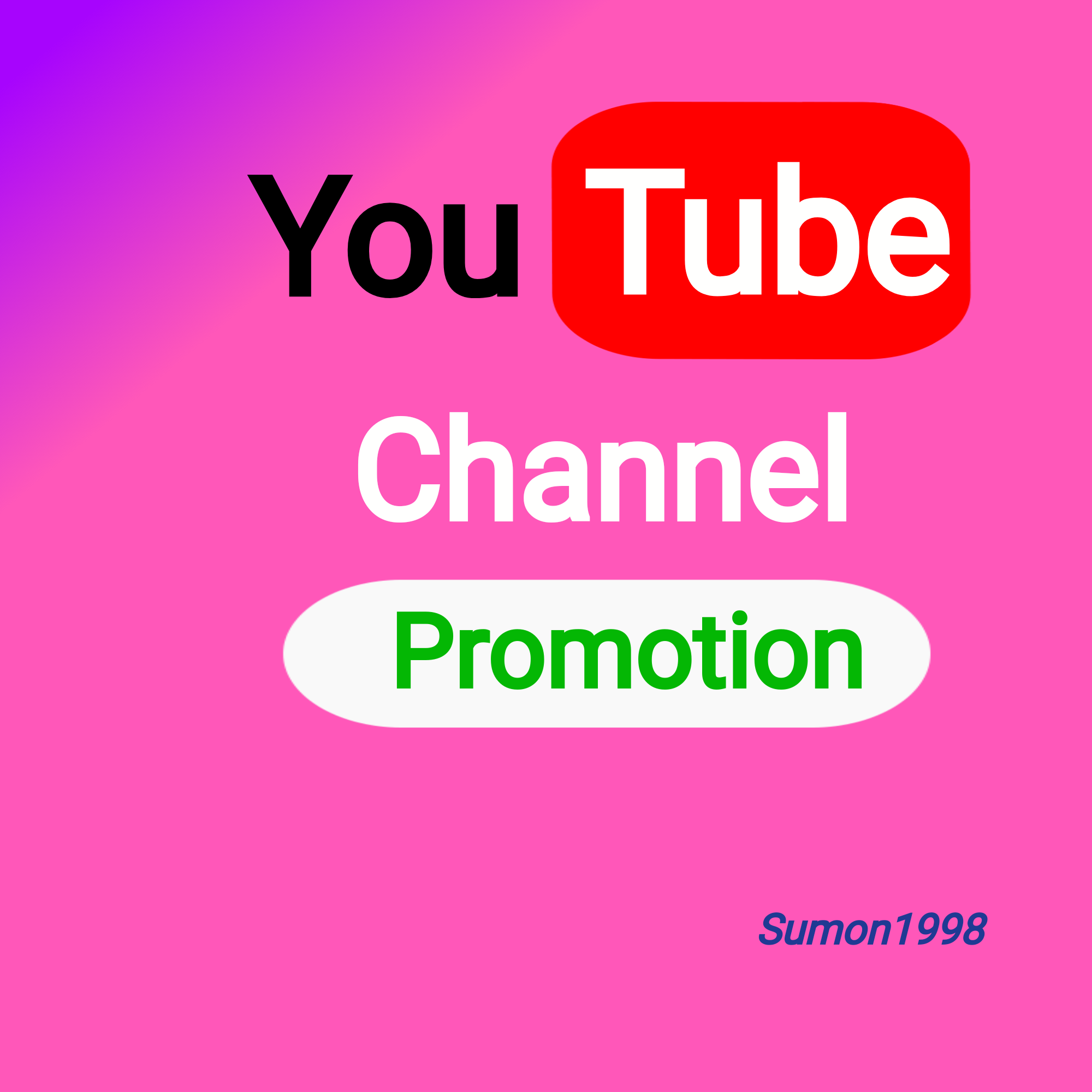 New offer Channel Promotion Fully Safe Instant Start