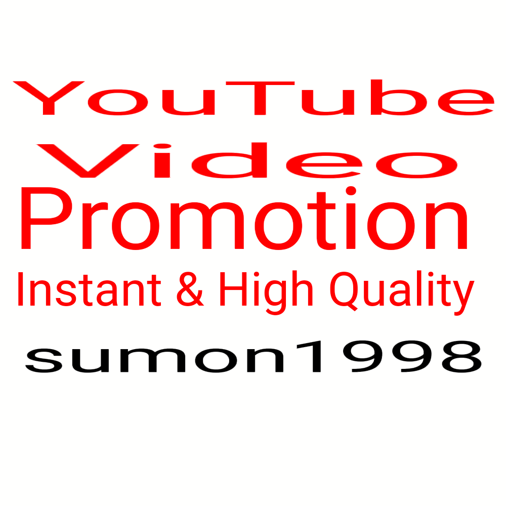 High Quality YouTube account promotion Social Networks Marketing