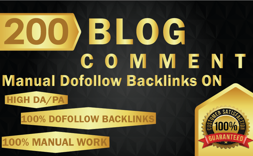 I Will Do 150 Blog Comment On High Da Pa Tf Cf And Low Obl