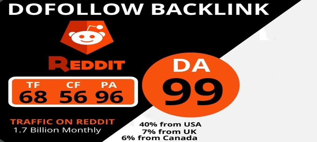 I will create a STRONG DA99 Dofollow Backlinks From Reddit.