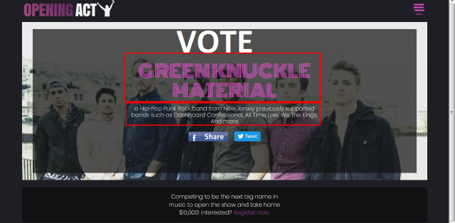 Buy 100 Opening Act votes your online contest Polls