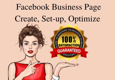 Create,  Setup,  Optimize Facebook Business Page