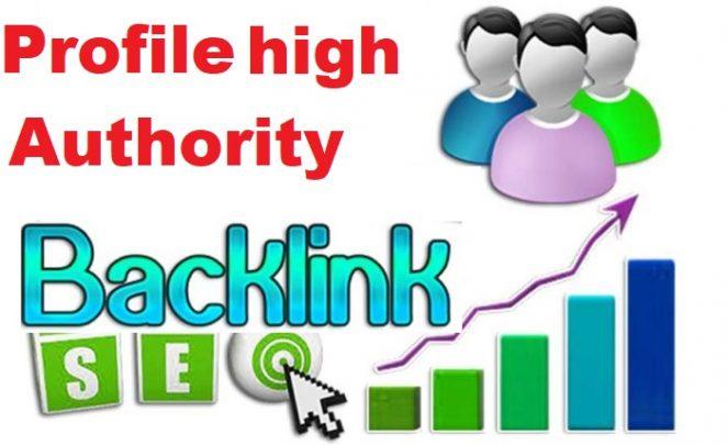50 manually create dofollow profile backlinks