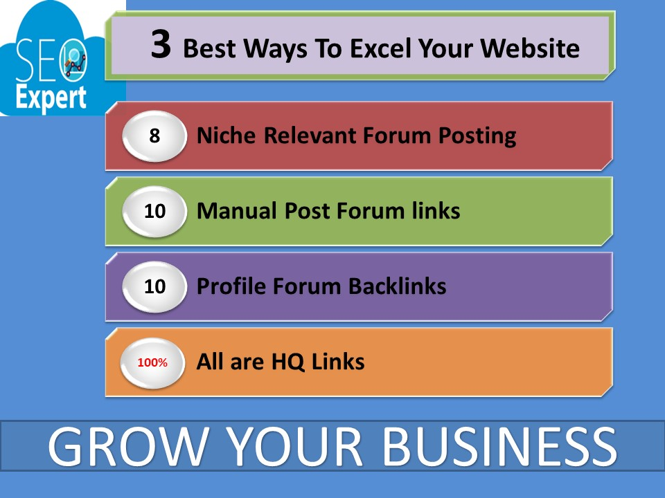 3 Best ways To Excel Your Business 8 Niche Relevant Forum,  10 Post Forum,  10 Profile Forum Posting