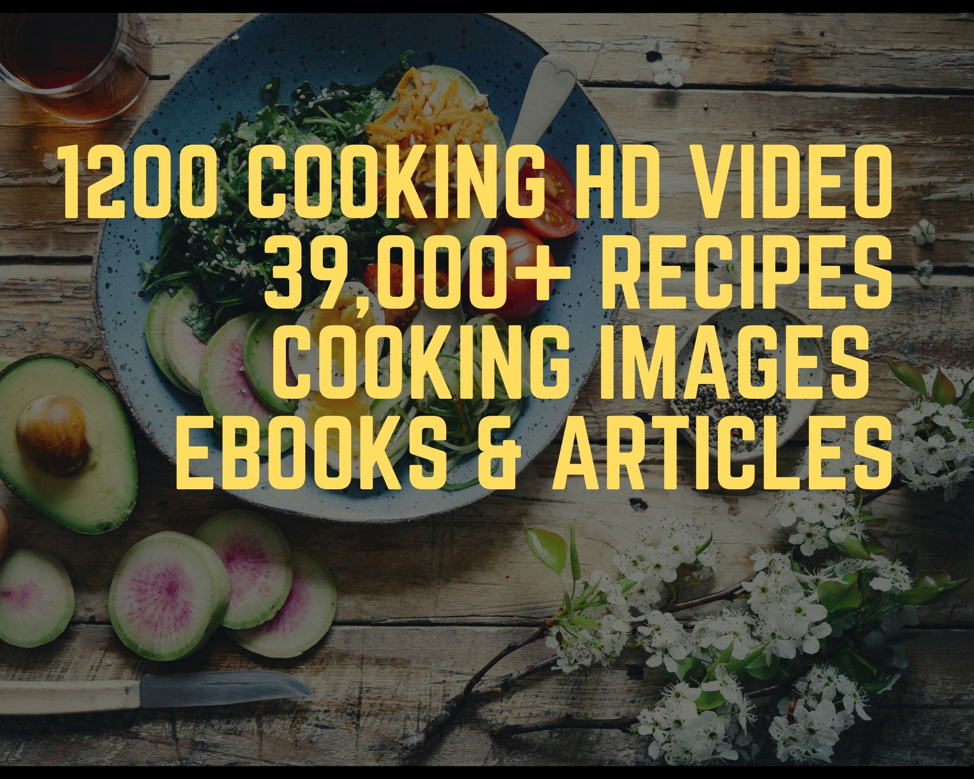1200 cooking videos for YouTube,  Facebook,  Instagram, website, blog post and more bunuses