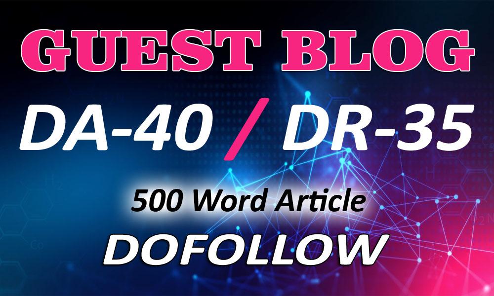 Guestpost DR 40 my google news approvad website