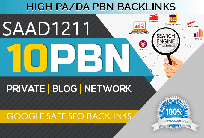Build 10 Manual HIGH TF CF DA PA 30 to 10 Dofollow PBN Backlink
