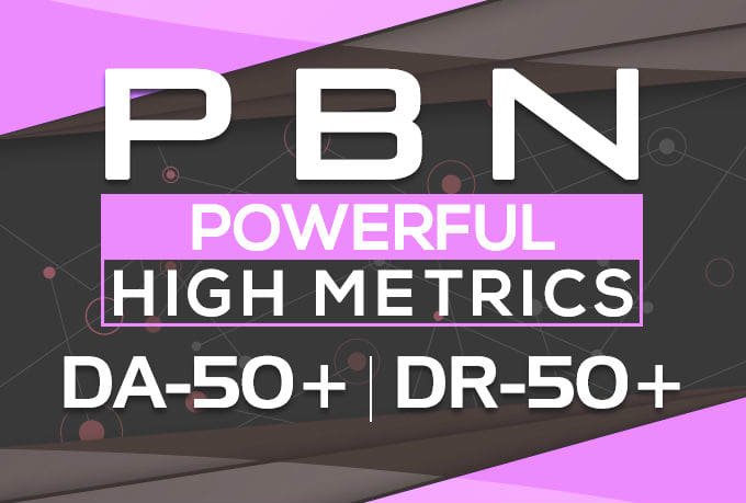 provide DR 50 to 75 homepage pbn backlinks