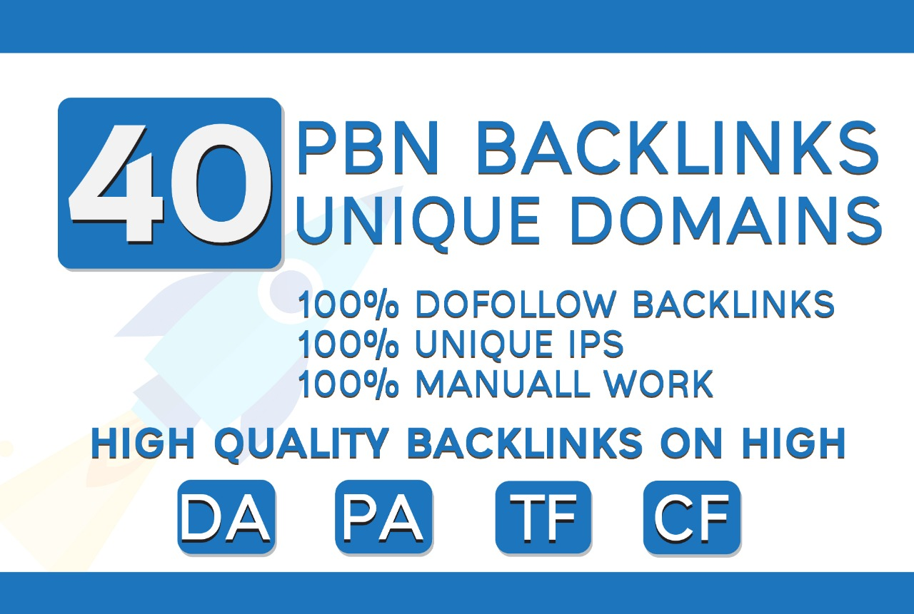 DO 40 PBN Unique Domains High DA PA Contextual SEO Backlinks