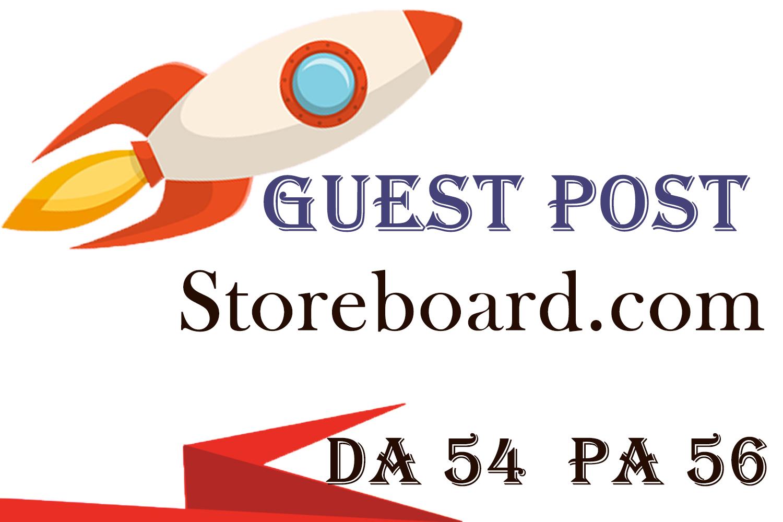 Guest Post ON Storeboard. com DA 54