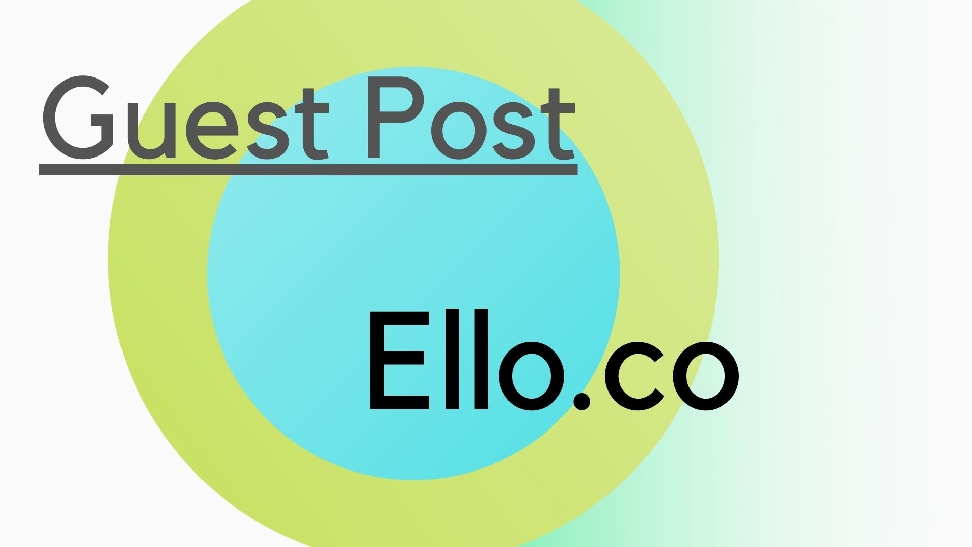 Write and guest post on Ello.co
