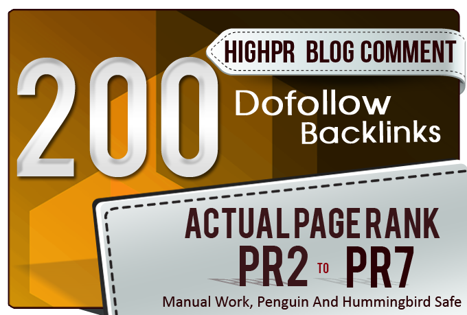 Create 200 Dofollow Backlinks Blog Comments On Actual Page Pr7 To Pr3